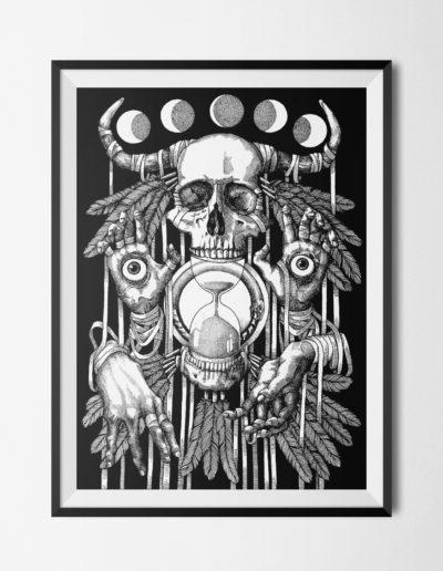 Card XIII: Death / framed